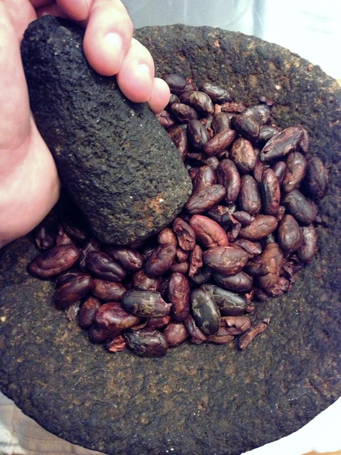 We make our chocolate from raw cacao beans.