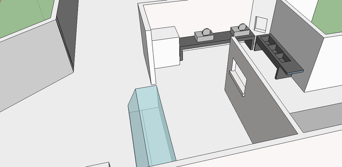 Layout for two station setup w/ additional room to grow (right side)