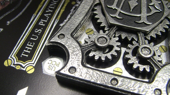 Graphic design fused with metal design.