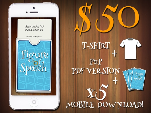 $50 - T-SHIRT + PnP PDF VERSION + 5 MOBILE DOWNLOADS!