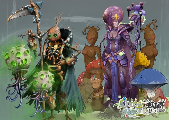 [Color Warz : Dark Threat] Spores / Wooden King / Mandrakes / Fongia / Mushrooms