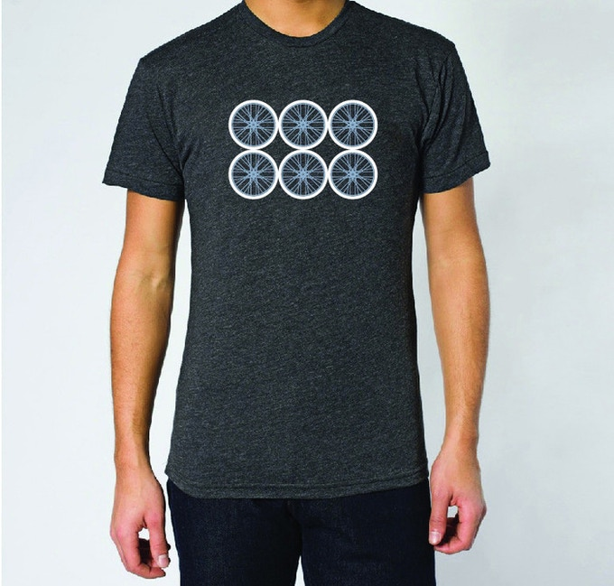 Men's Bike Wheel Tee (designed and printed in ATX)