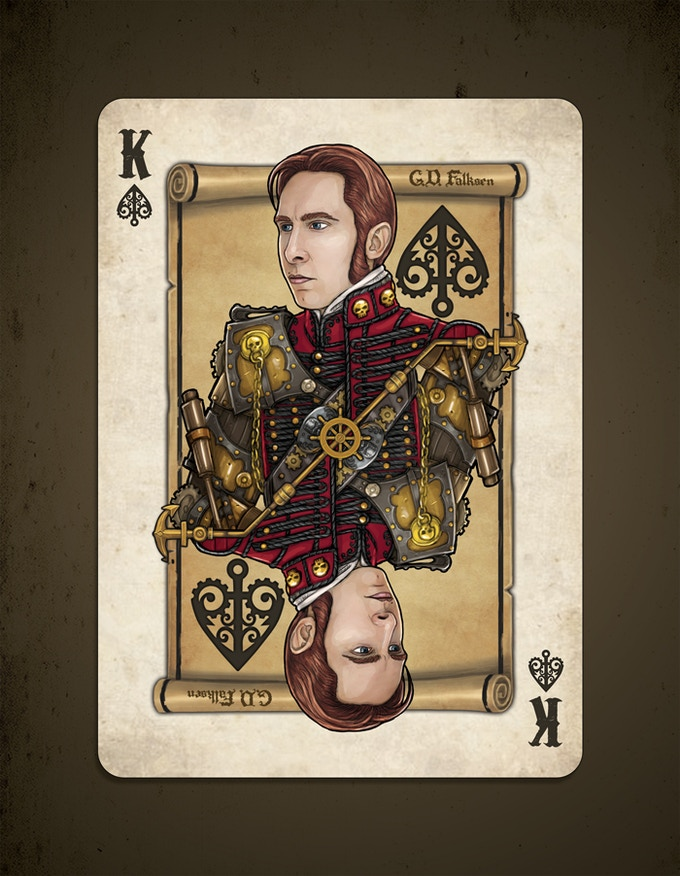 G. D. Falksen appears as the King of Spades