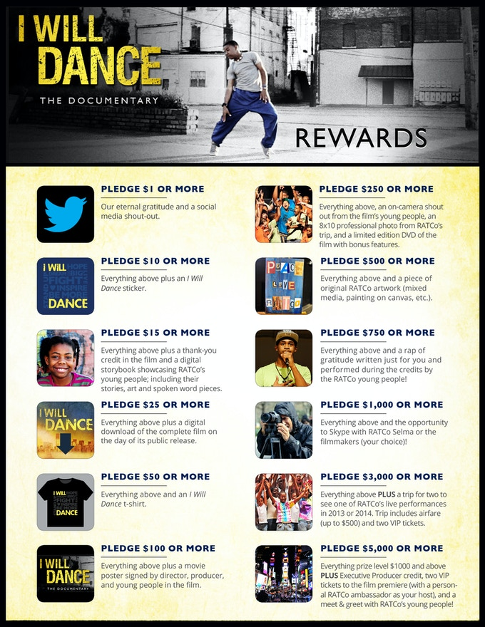I Will Dance Rewards