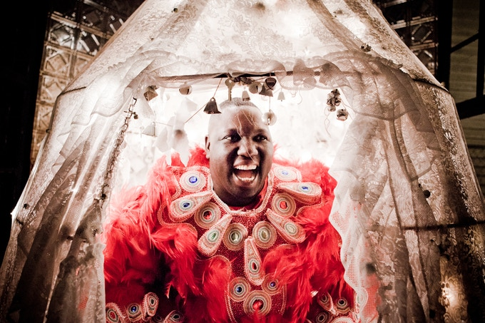 $75.00 Reward: A calendar featuring photos by the many amazing photographers including Tod Seelie, William Widmer and more! (Theris Valvery, Flag Boy of the Black Feathers Mardi Gras Indian Tribe shown here. Photo By Melissa Stryker.