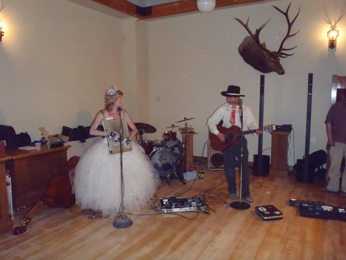 Playing at our wedding reception!