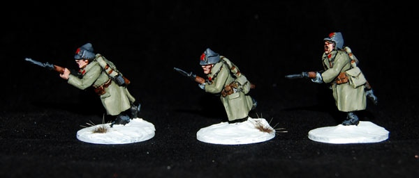Charging Red Army riflemen