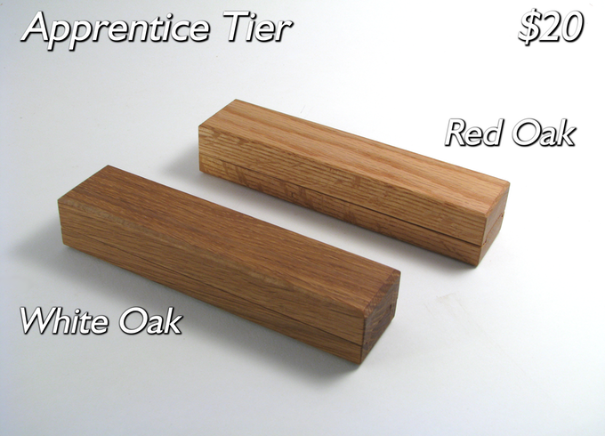 The vault in White Oak and Red Oak (Kickstarter Exclusive).