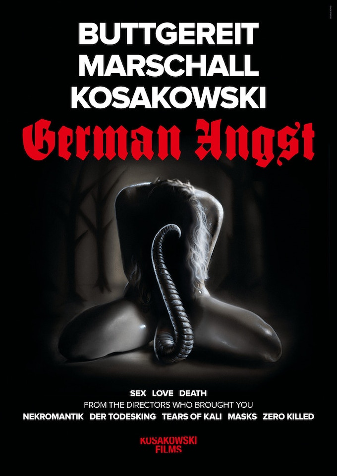 The official GERMAN ANGST teaser movie poster (24 x 33 inches) + MORE! - $100 - signed by the directors Jörg Buttgereit, Andreas Marschall & Michal Kosakowski