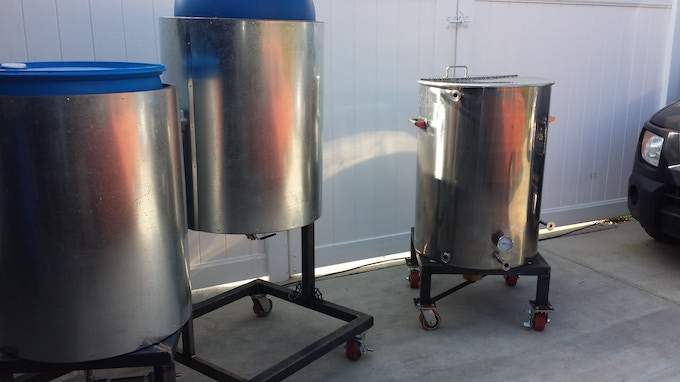 Hand-Brewed Beer's custom ~2BBL Brewhouse.