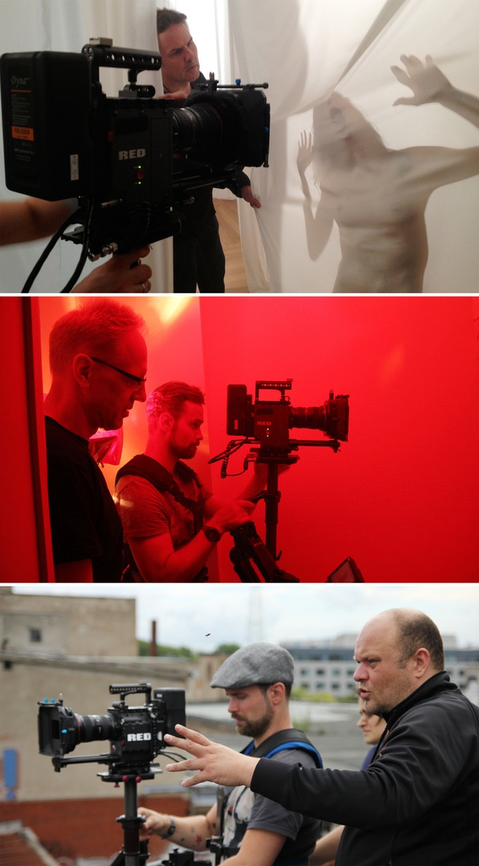 Backstage stills from teaser shooting - directors at work - from top: Andreas Marschall, Jörg Buttgereit, Michal Kosakowski