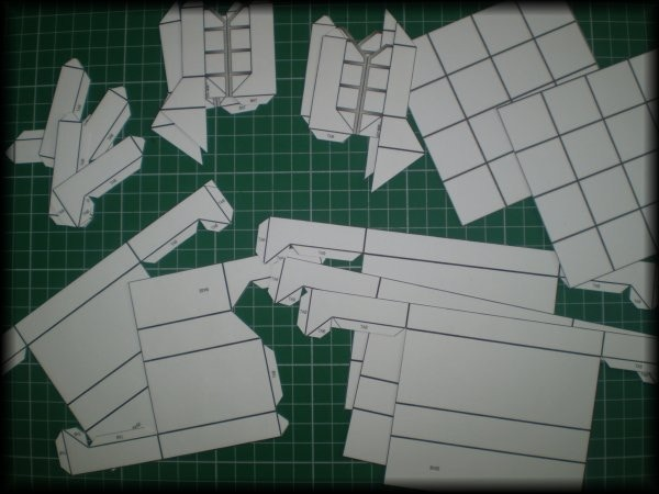 All the parts cut out and ready to be assembled.