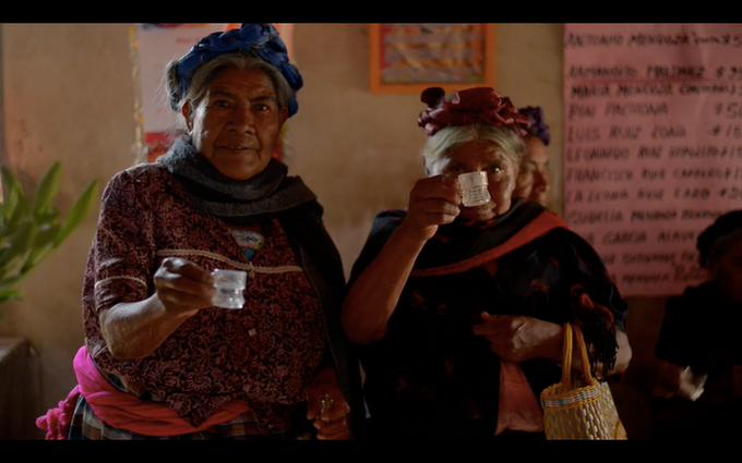 Zapotec women in Teotitlán del Valle, Oaxaca