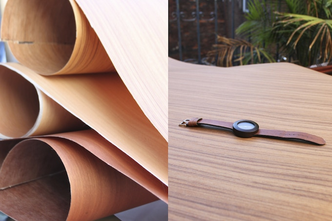 Our design required us to source some of the worlds thinnest veneer. Silverheart, Makore, & Teak.