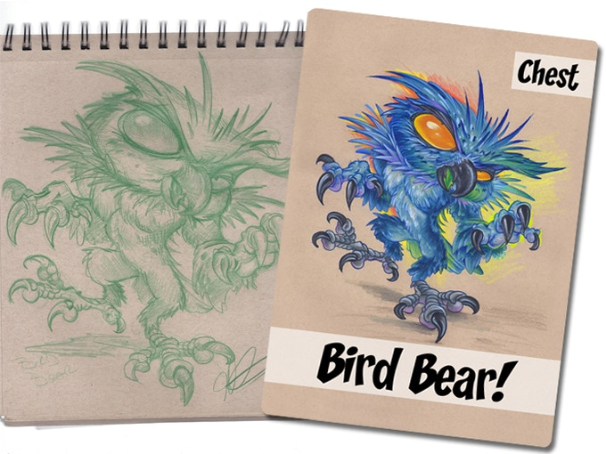 From sketch to card!