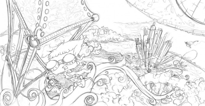 Xarlie and the Xanthum Gum Factory - Click here to read his story - This is just a concept sketch, the final illustration will be similar to Cinderella Goes to the Potty