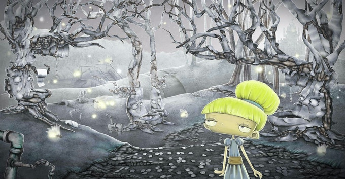 Cinderella Goes to the Potty, entering the potty forest - Click here to download her story free