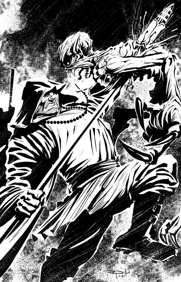 CruZader vs Vampire by Game of Thrones artist Ray Dillon. www.raydillon.com