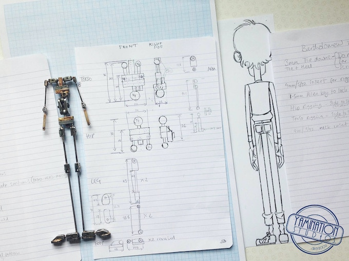 Armature created by Aardman Animation's Andrew Bloxham, for Bartholomew's puppet