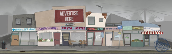 Concept art for the 'typically British' high street