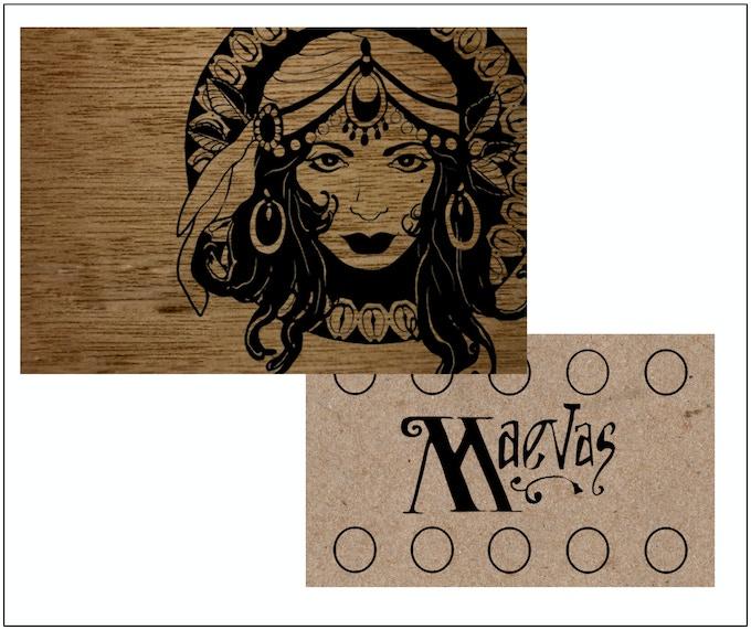 Maeva's Coffee Card Design by Edward Scott Foto