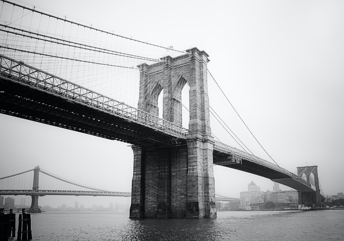 The brooklyn bridge in letterpress type by cameron moll kickstarter during one of several trips to the bridge i captured this photo eventually it malvernweather Choice Image
