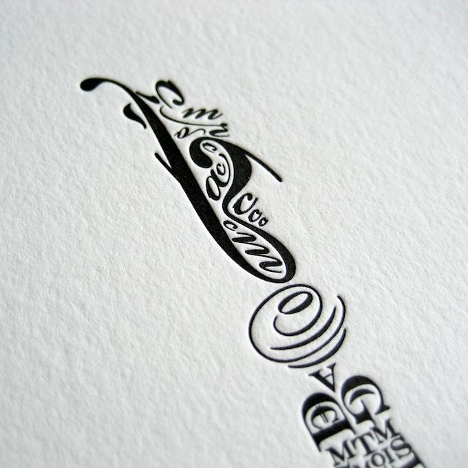 Letterpress detail in the Salt Lake Temple poster.