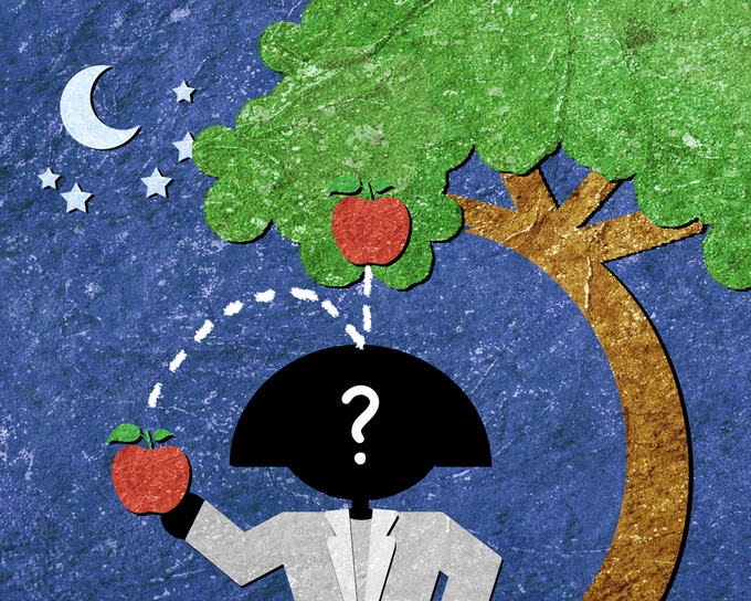 Why does an apple fall from a tree? A physicist would know!