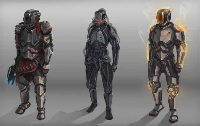 Armor variation concepts for the Soldier class.