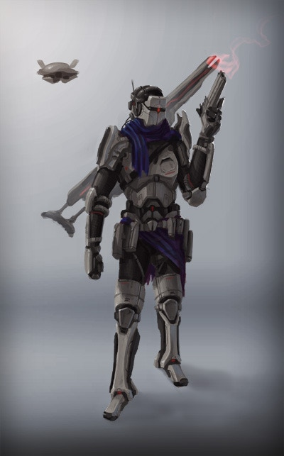 Early concept of the sniper class.