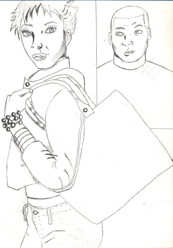 Unused cover original sketch