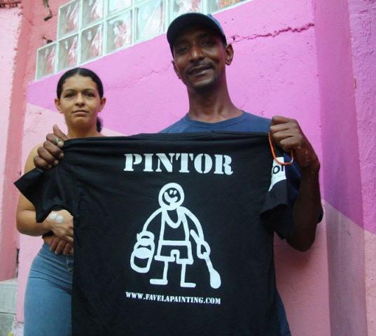 """Favela Painting """"Pintor"""" Shirt"""