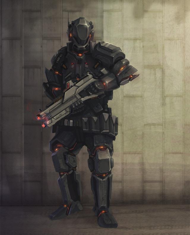 RCON soldier concept.