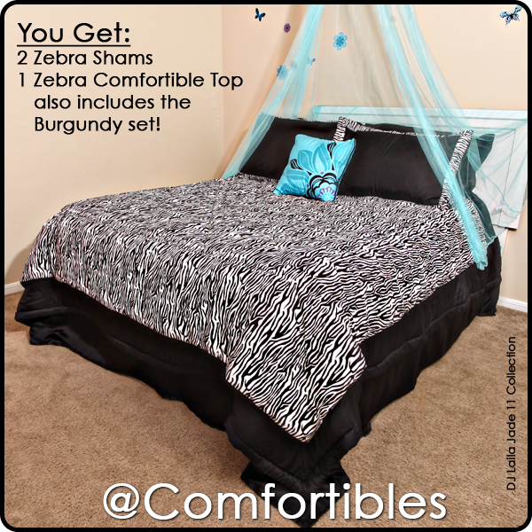 Zebra Comfortible Top with Shams