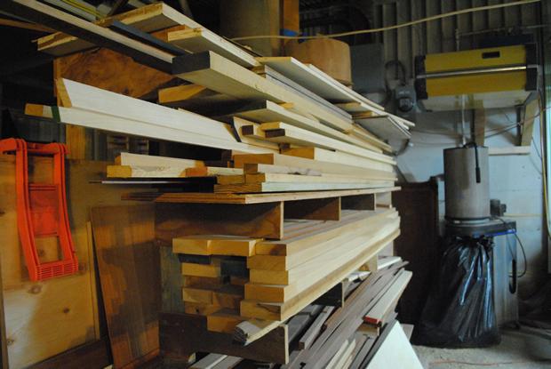 Our scrap rack.