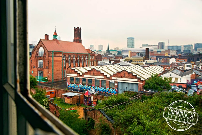 The view of Birmingham from Yamination Studios. Image courtesy of Ian Davies Photography.
