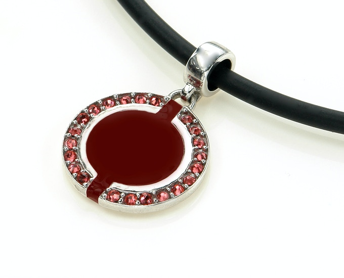 Our Swarovski Crystal disc makes a great pendant.