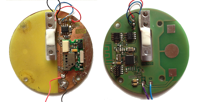 Prototype based on off the shelf module and one of our own PCBs manufactured specifically for the H2O-Pal.