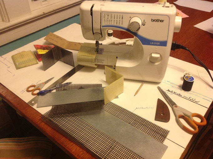 Folding templates and my wife Christmas present I never let her use (sewing machine)