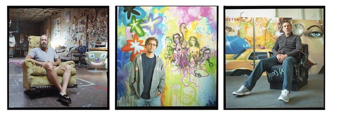 From the left: Kenny Scharf, Daze, and CRASH