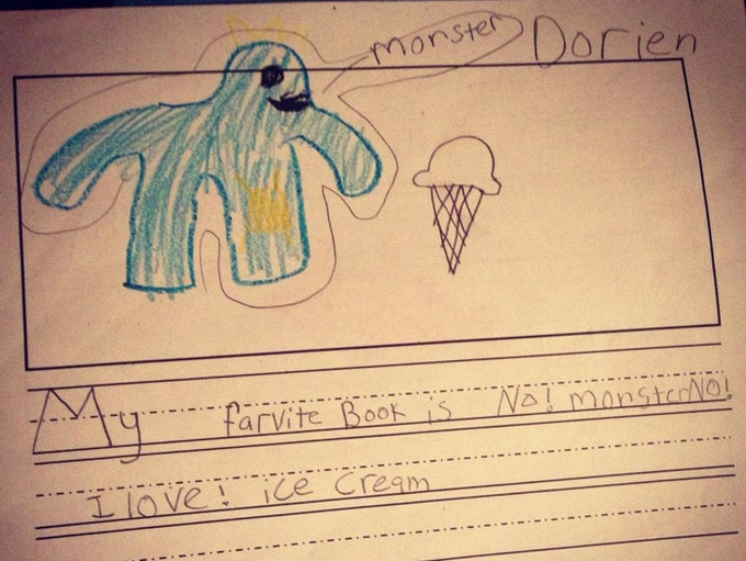 Child's love and illustration of Joey, the monster.