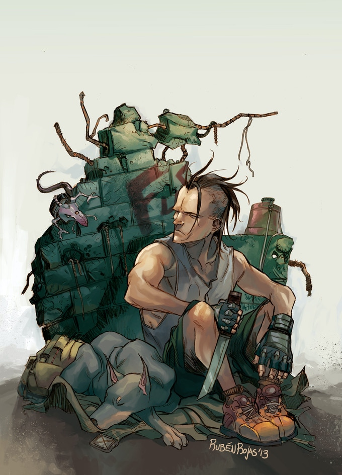 Art by Ruben Rojas, RUIN #1 cover