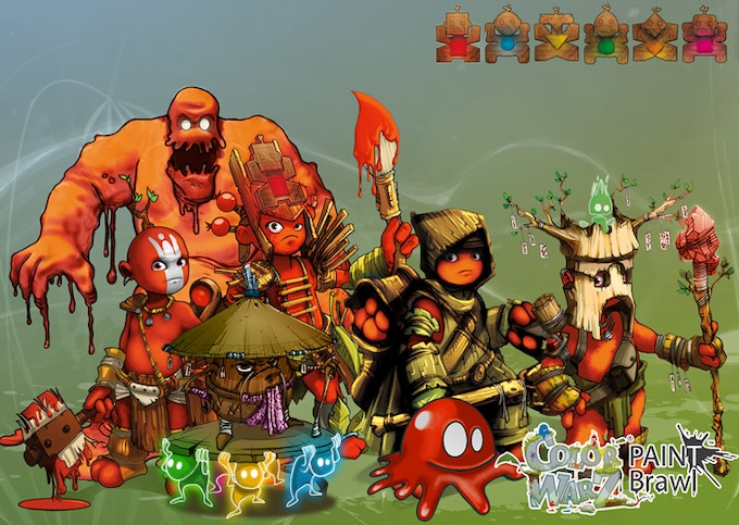 [Color Warz : Paint Brawl] Warrior / Paint Golem / Oak / Chief / Hunter / small Golem / Shaman