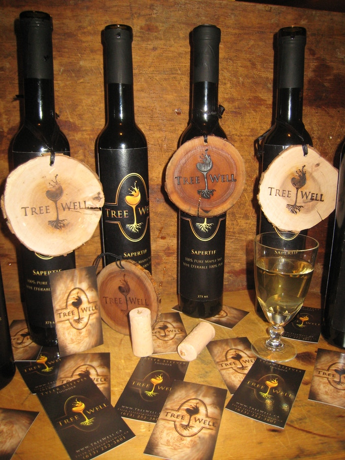 First Generation TreeWell Bottles, Coasters and Business Cards