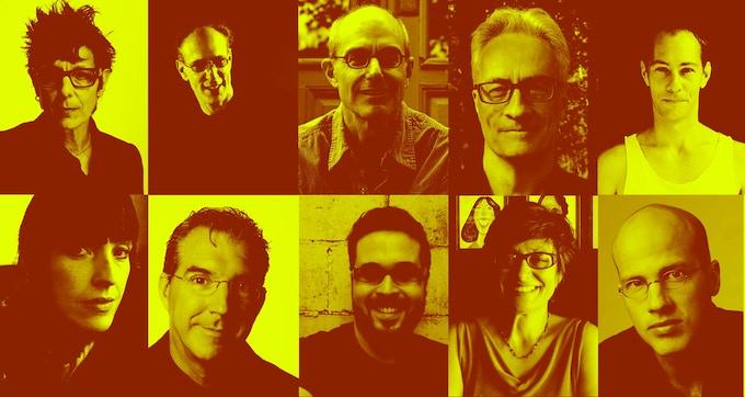 (Top: Left to Right) Elizabeth Streb, Robert Woodruff, Jim Lewis, David Van Tieghem, Brandon Wolcott. (Bottom: Left to Right) Andrea Lauer, Robert Wierzel, Adam Greene, Wendall Harrington, Erik Pearson.