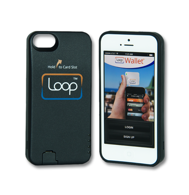 The Loop ChargeCase.  The dimensions of the ChargeCase are: 5.02 in x 2.45 in x .68 in.