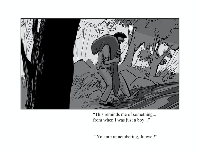 This is a panel from my never-before-seen pitch for Black Salamander