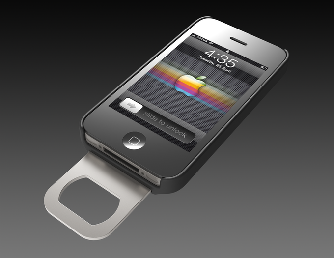 opena iphone bottle opener case by rob ward chris. Black Bedroom Furniture Sets. Home Design Ideas