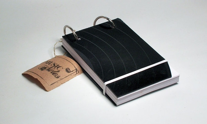 Music Notes Pocket Sketchbook Notebook By The Idea Can