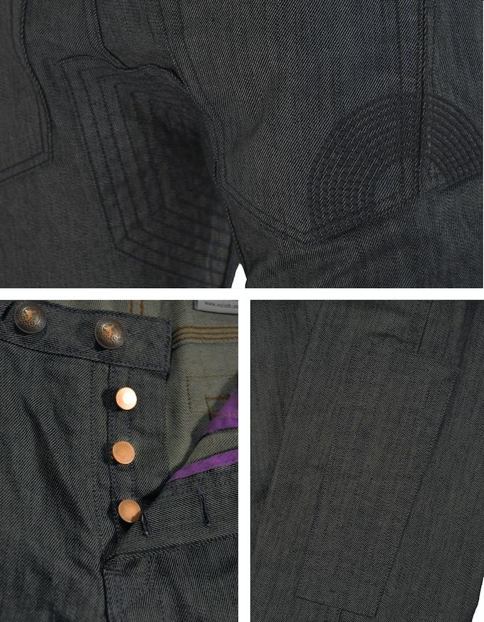 Dark Indigo Traffic Jean Details